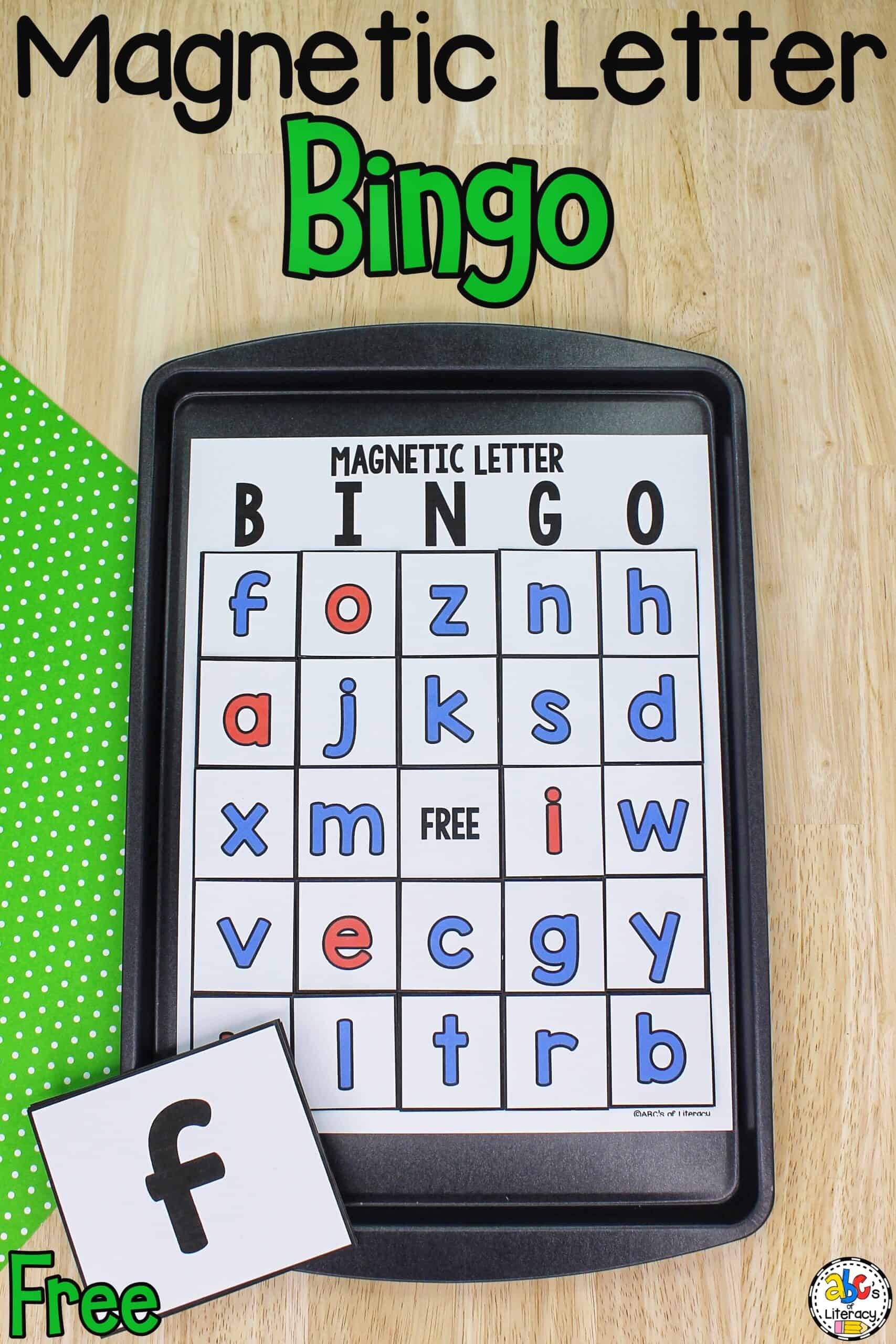 Magnetic Letter Bingo Game