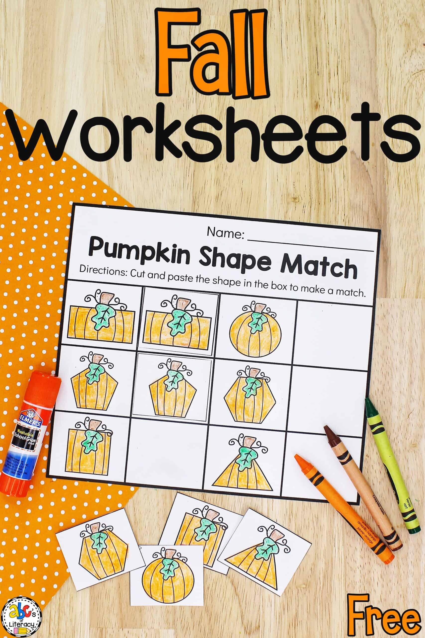 Fall Preschool Worksheets