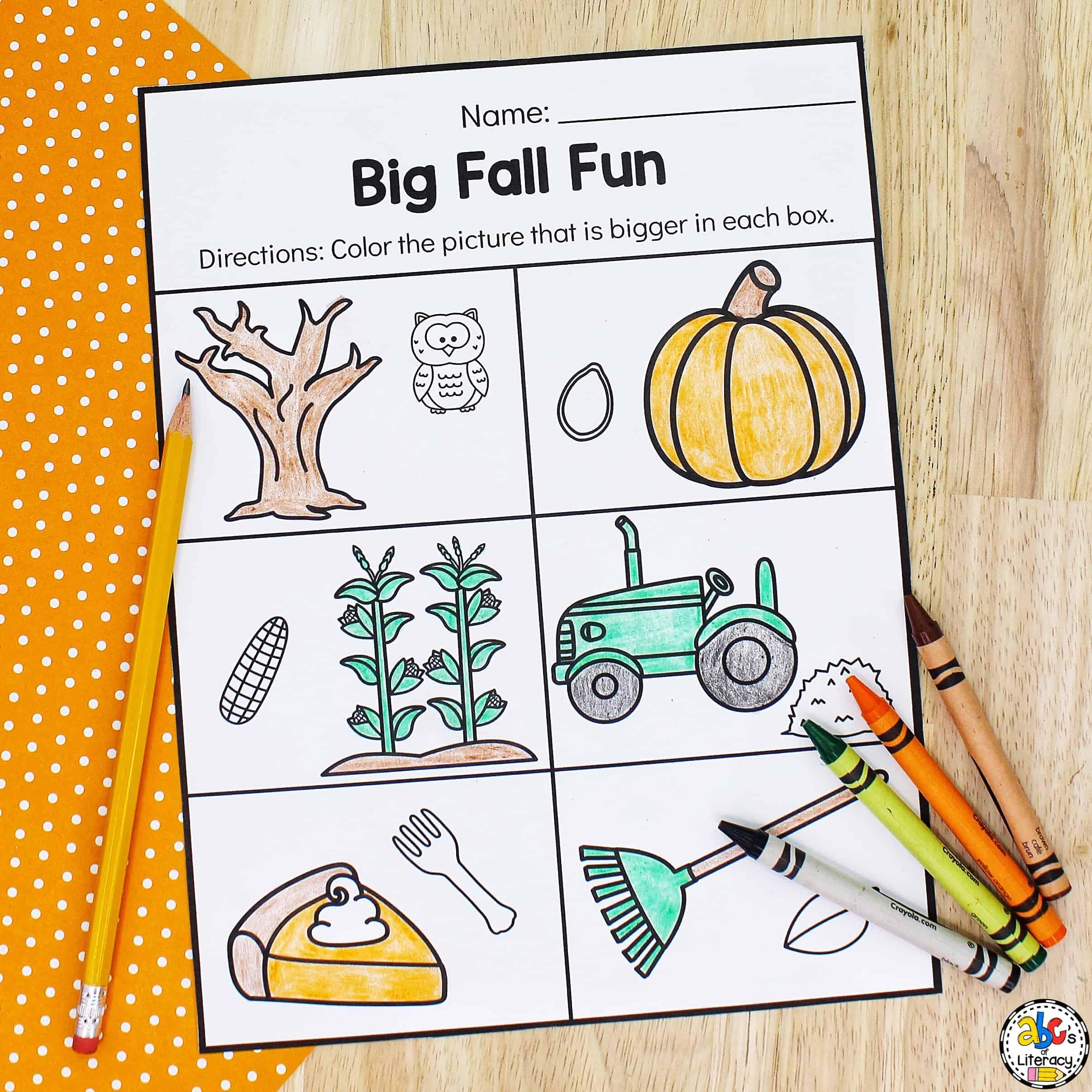 printables for preschool