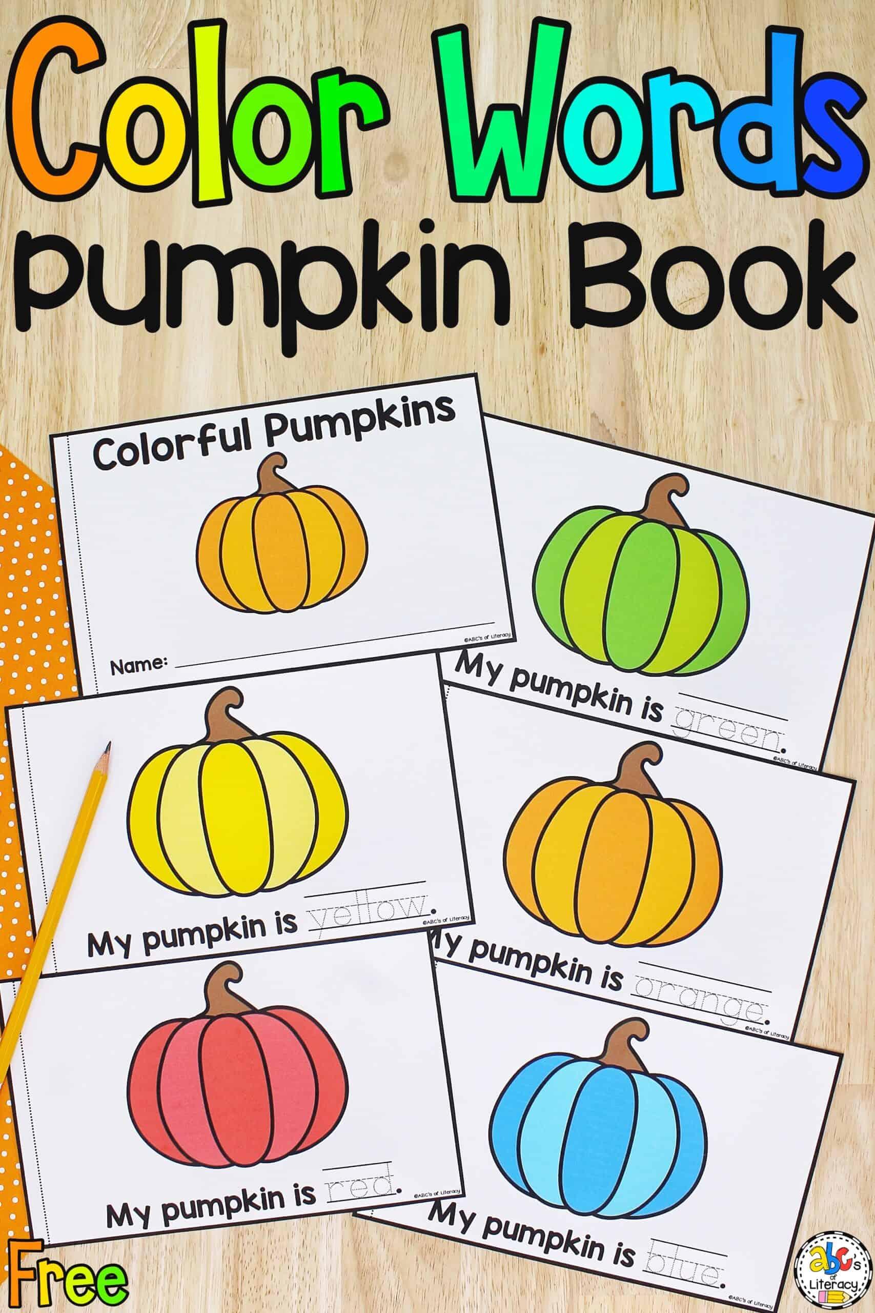 Color Words Pumpkin Book