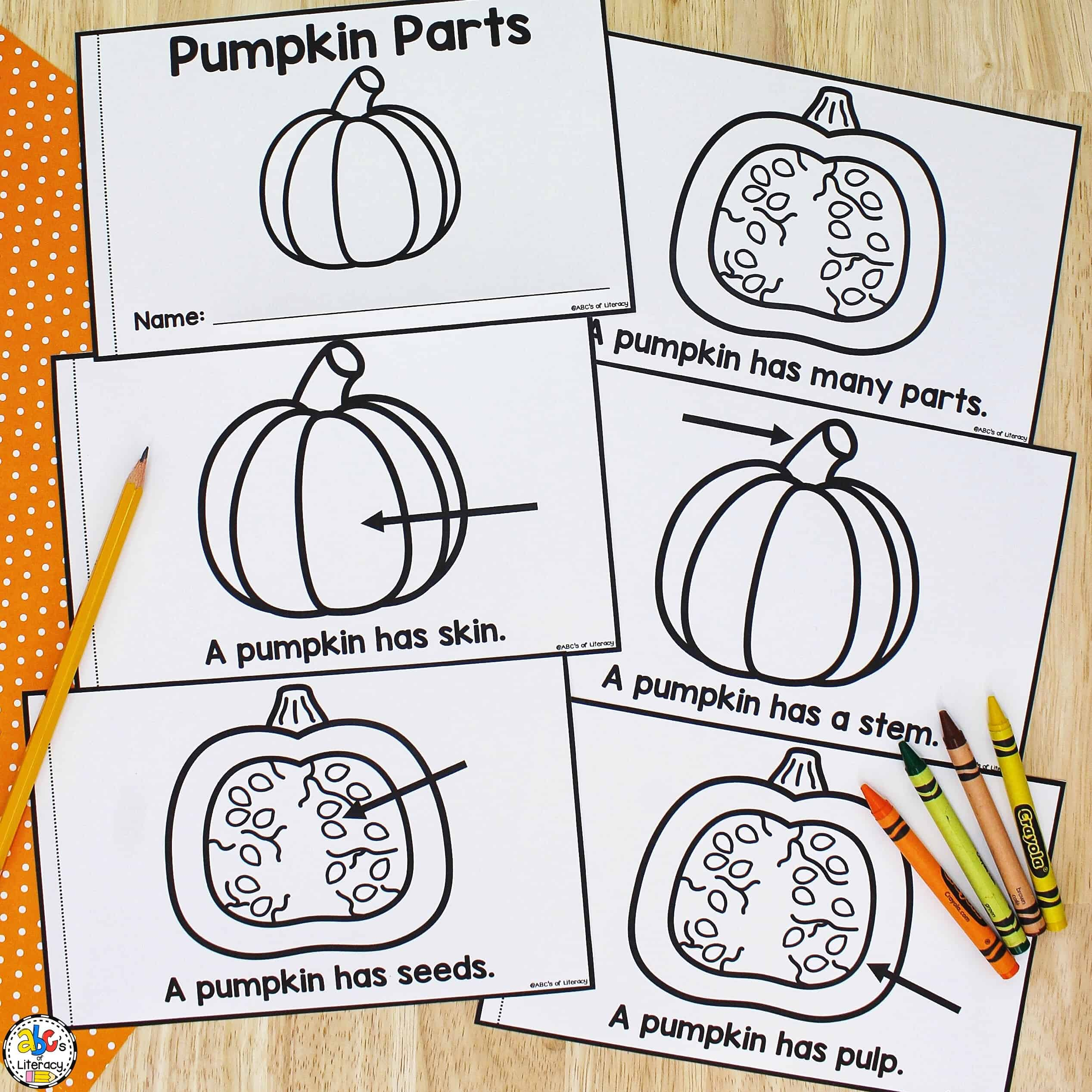 Pumpkin Parts Book