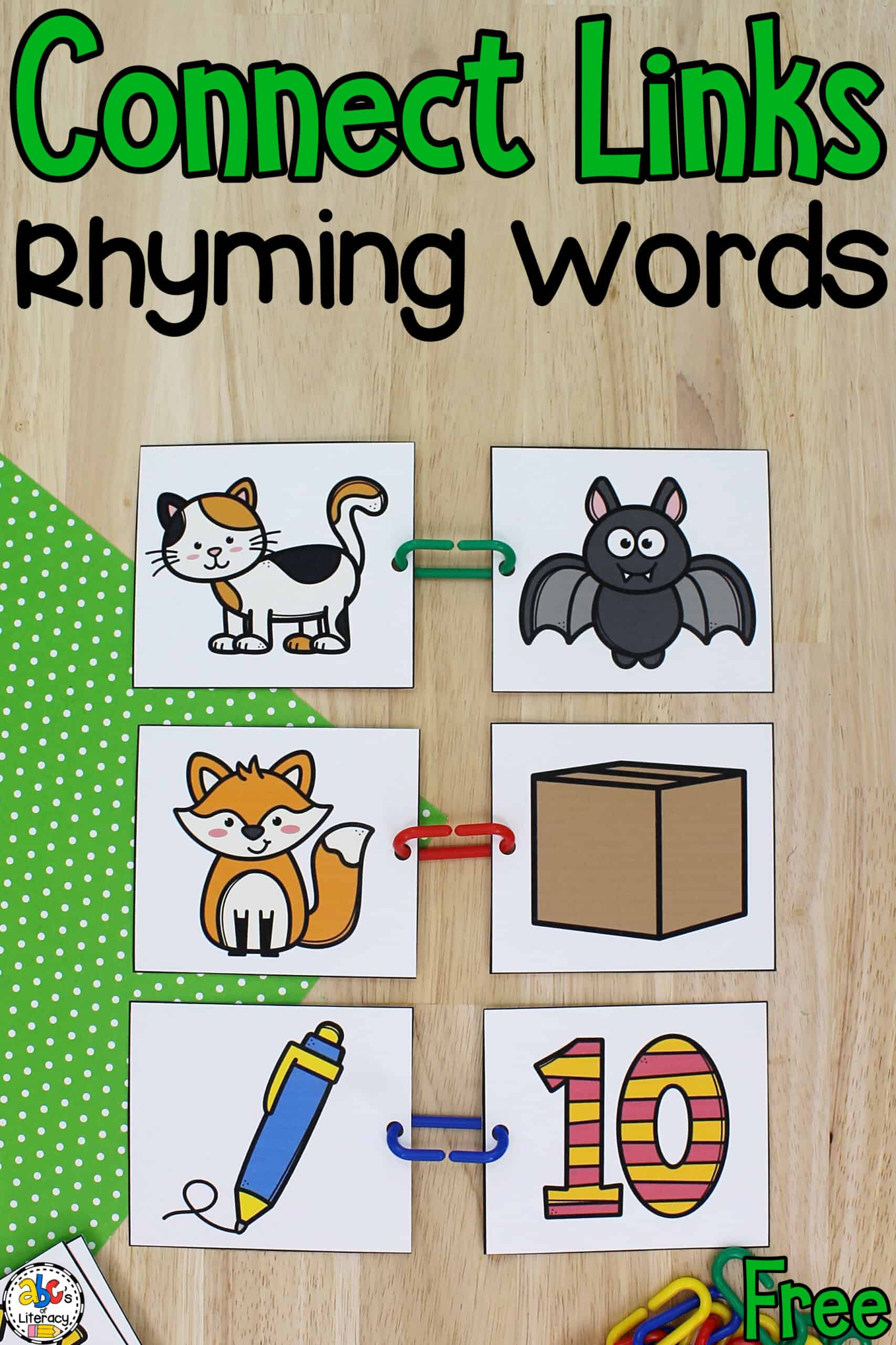 Connect Links Rhyming Words