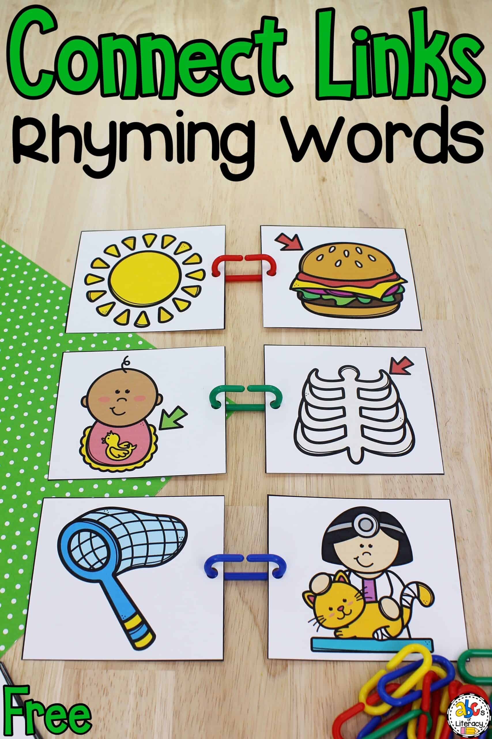 Connect Links Rhyming Activity