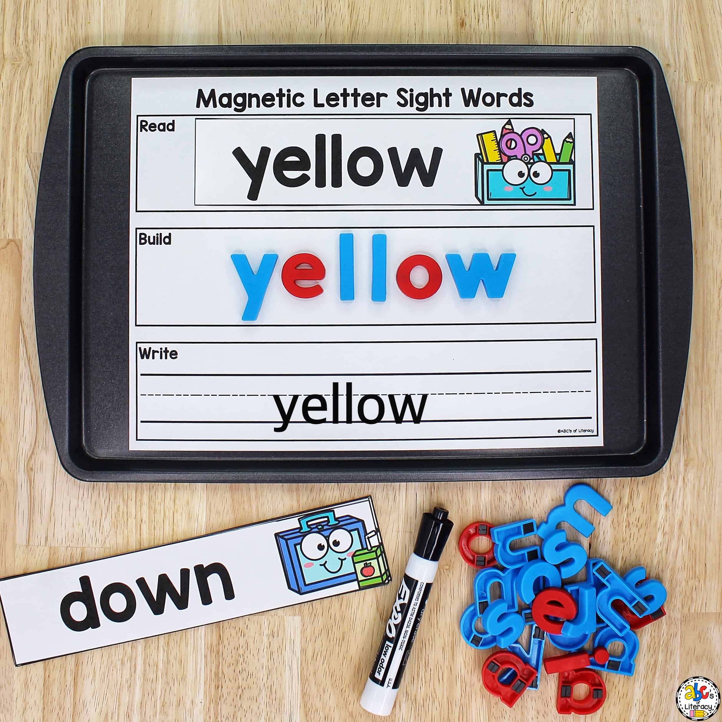 Magnetic Letter Sight Word Activity