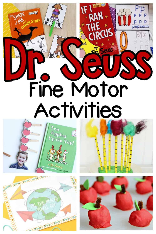Dr. Seuss Fine Motor Activities