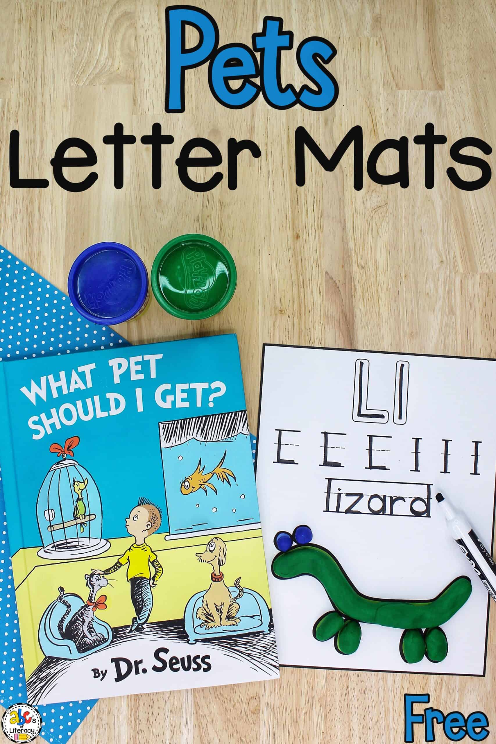 Pets Play Dough & Letter Mats
