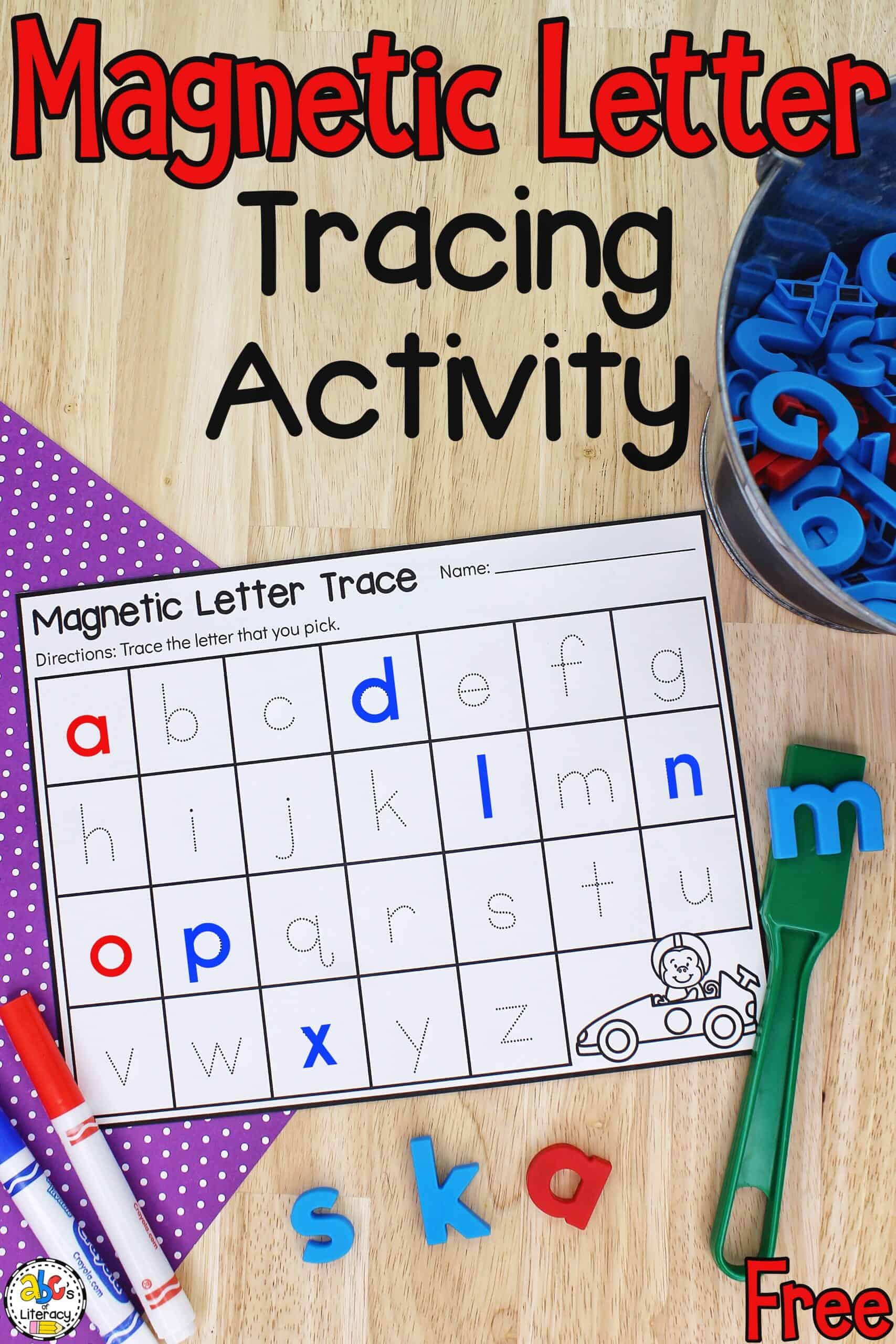 Magnetic Letter Tracing Activity