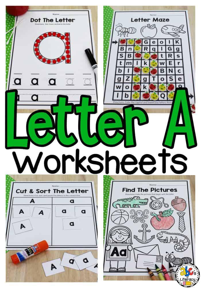 Letter A Worksheets for Kids