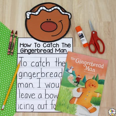 Gingerbread Man Writing Activity