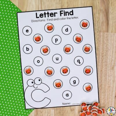 Find The Letter C Worksheets