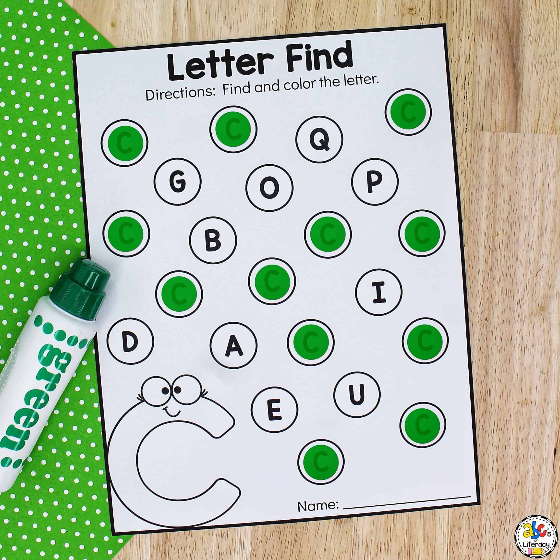 Letter Find Worksheets