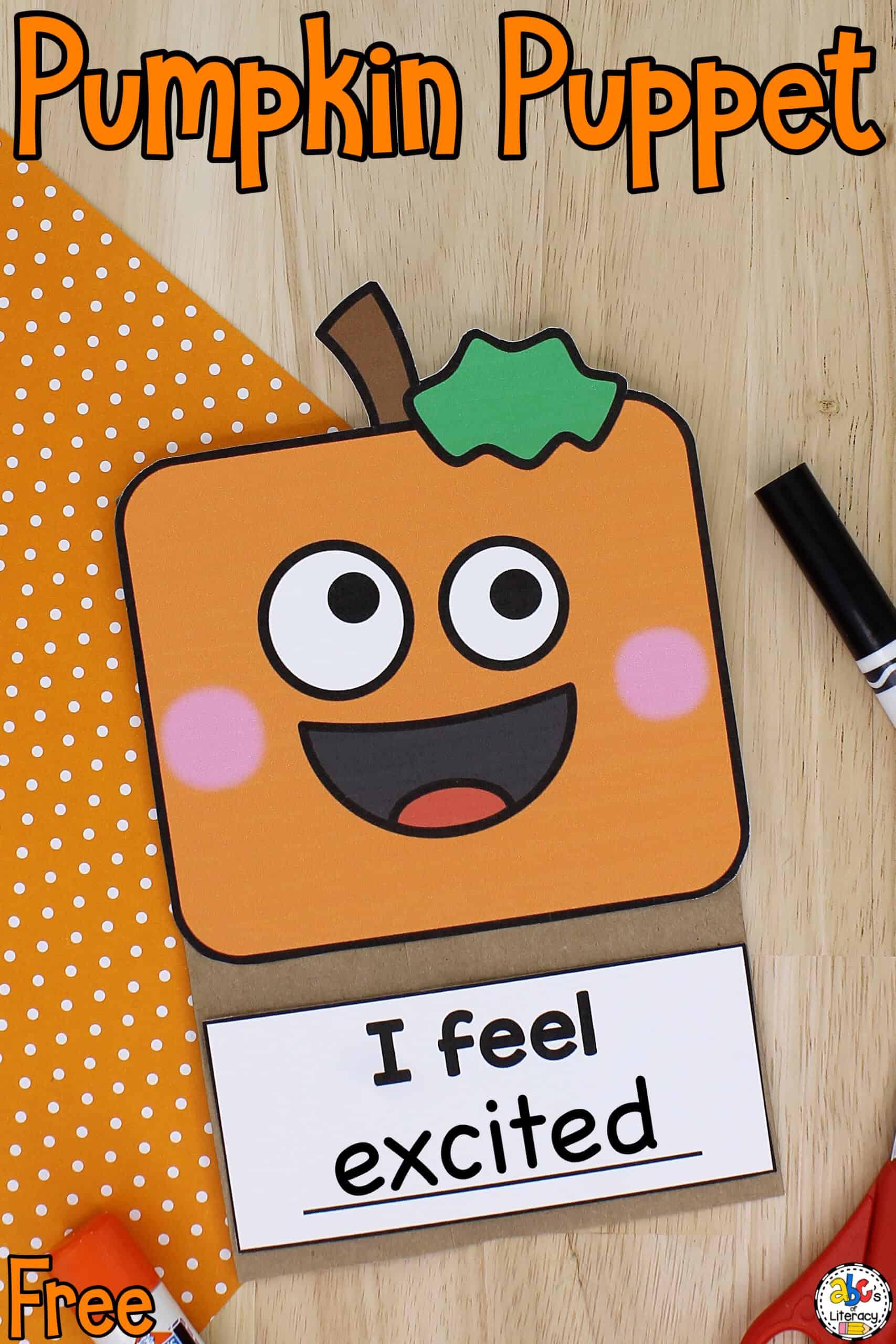 Pumpkin Paper Bag Puppet