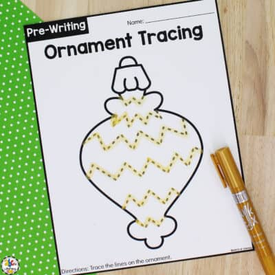 Christmas Ornament Tracing Worksheets