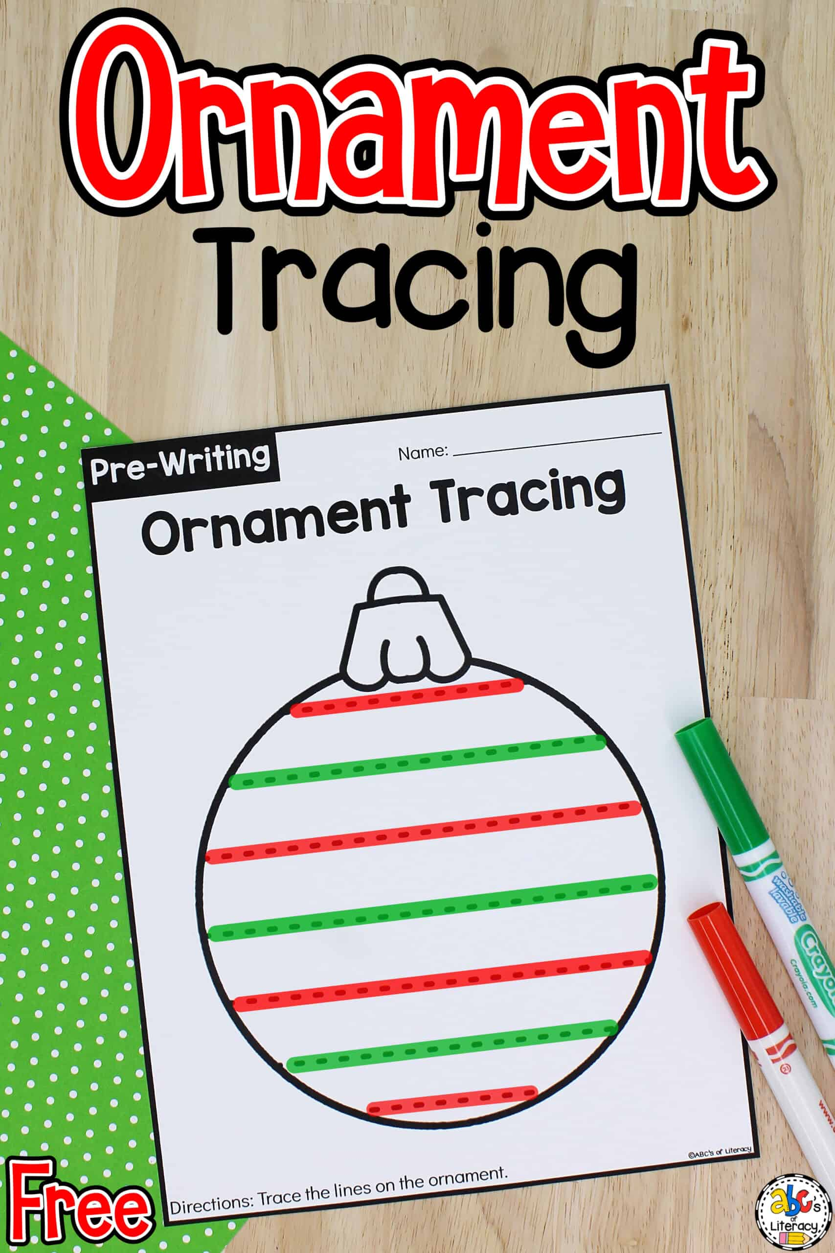 Ornament Tracing Worksheets
