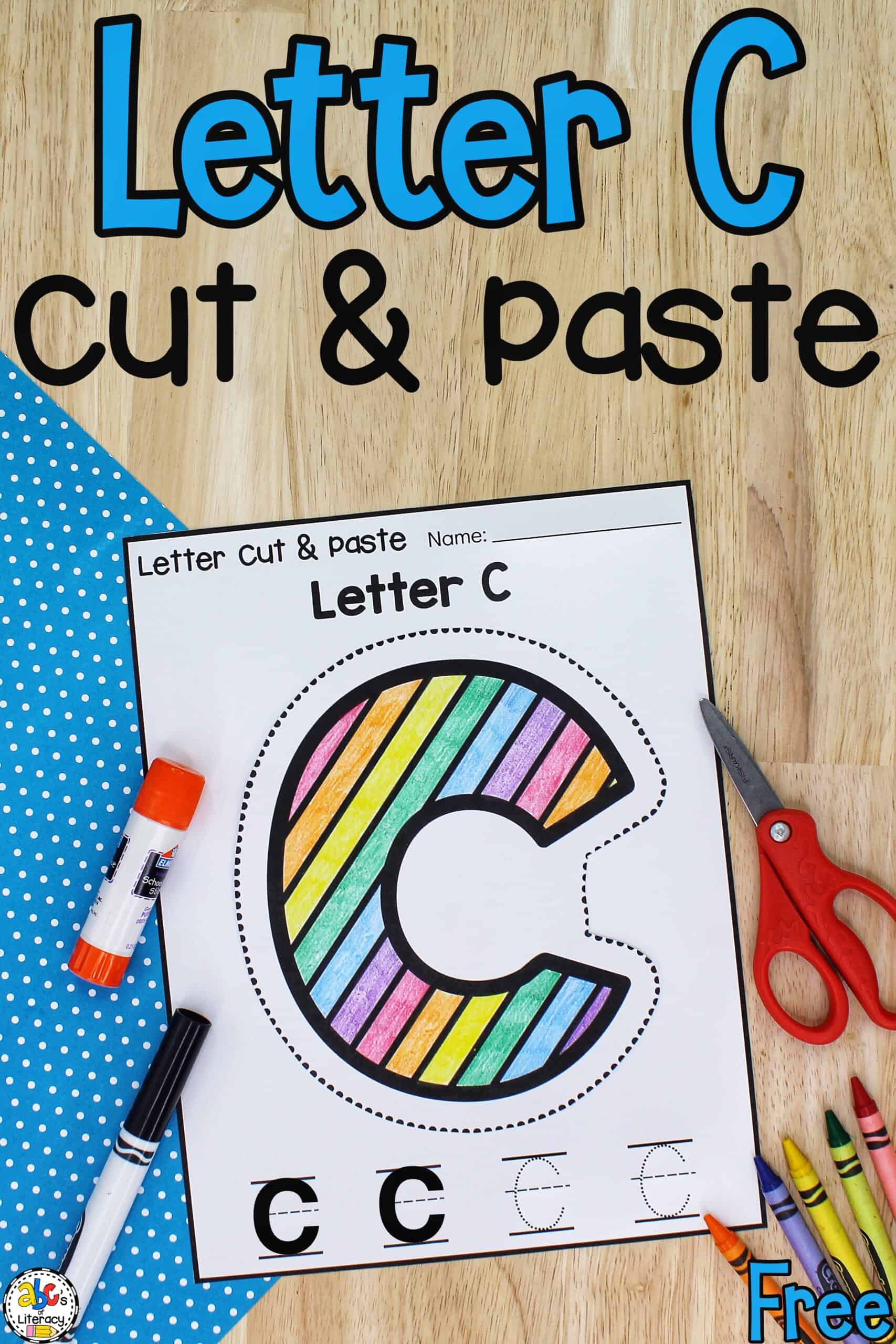 Letter C Cutting Activity