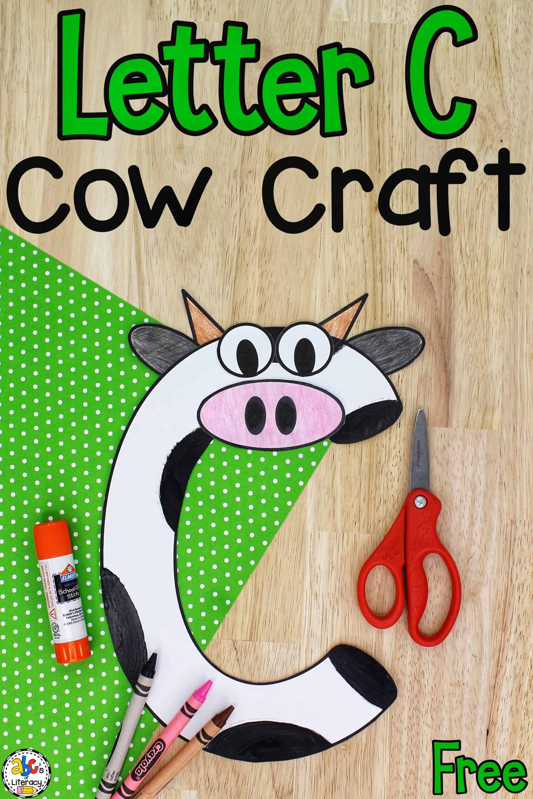 Letter C Cow Craft