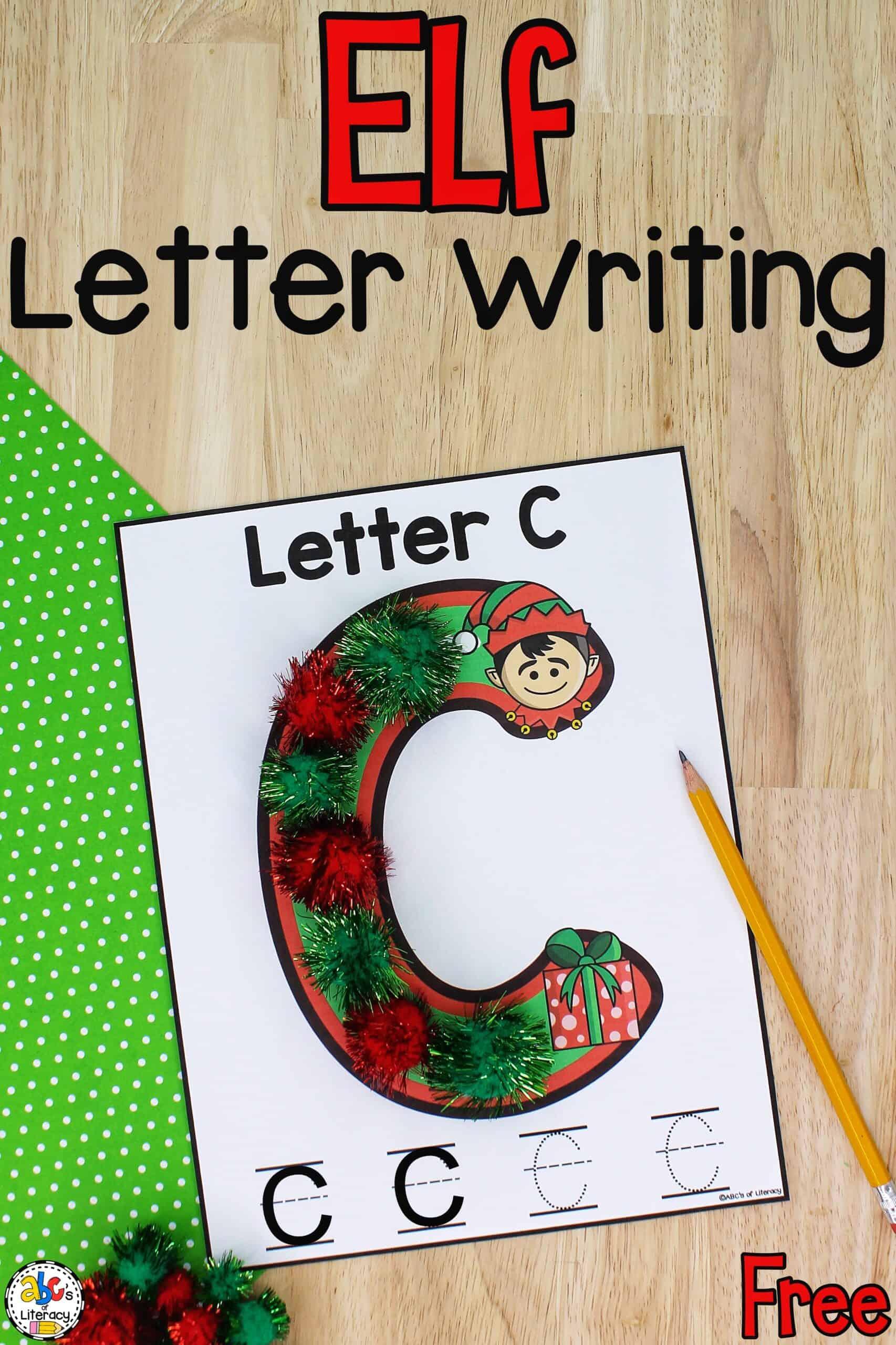 Elf Letter Writing Mats