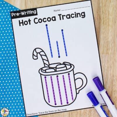 Hot Cocoa Tracing Worksheets