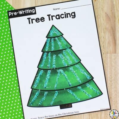 Christmas Tree Tracing Worksheets