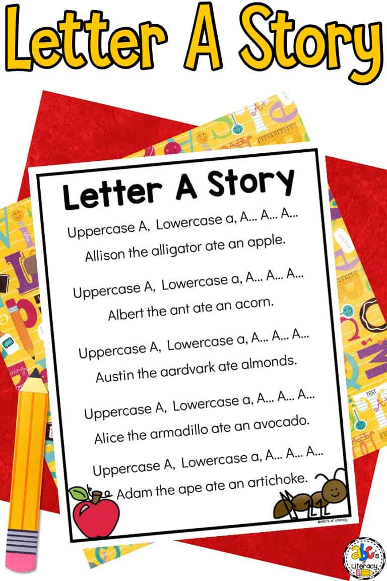 Letter A Story for Preschoolers