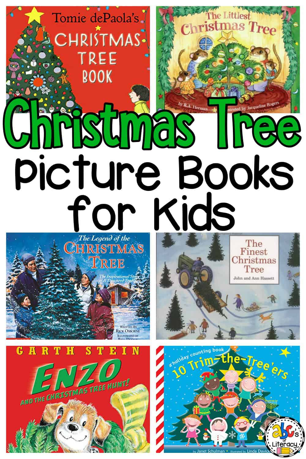 Christmas Tree Book List for Kids
