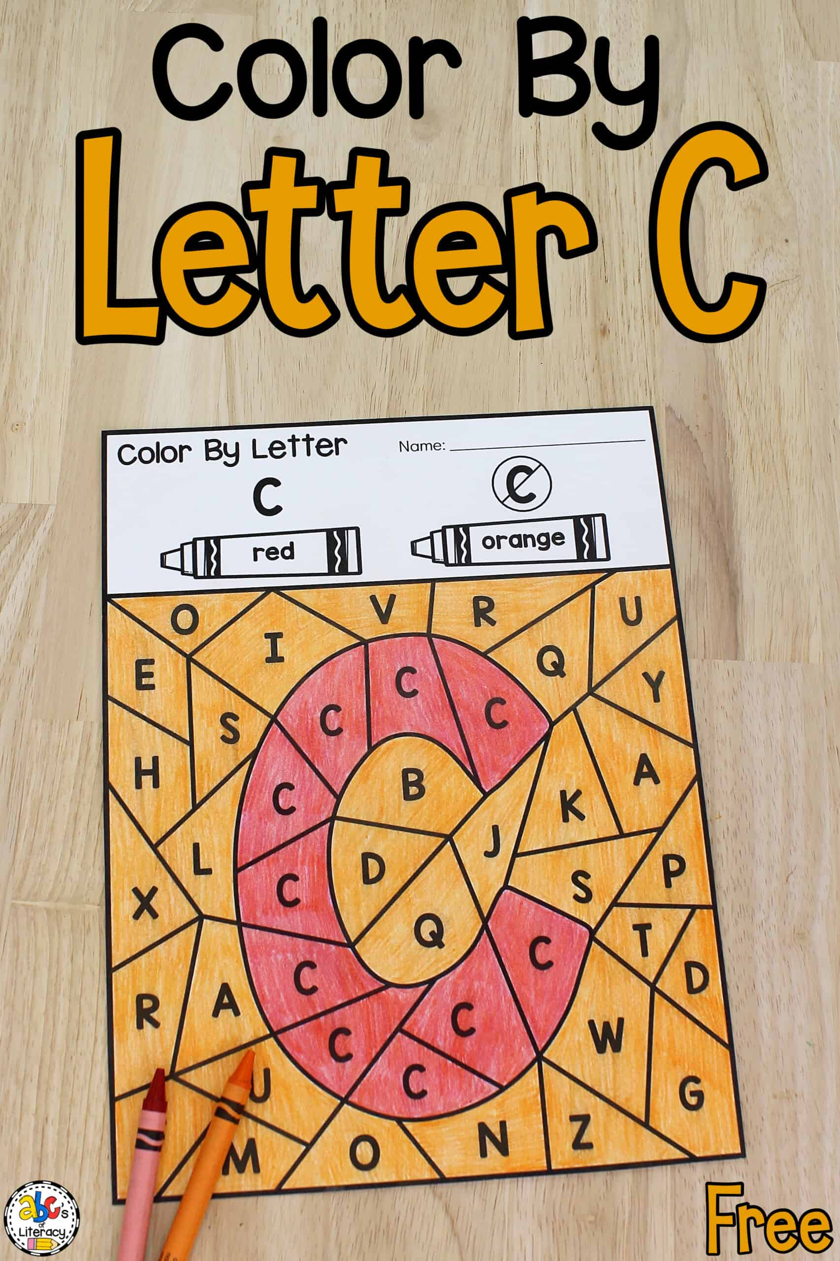 Color By Letter C Printables