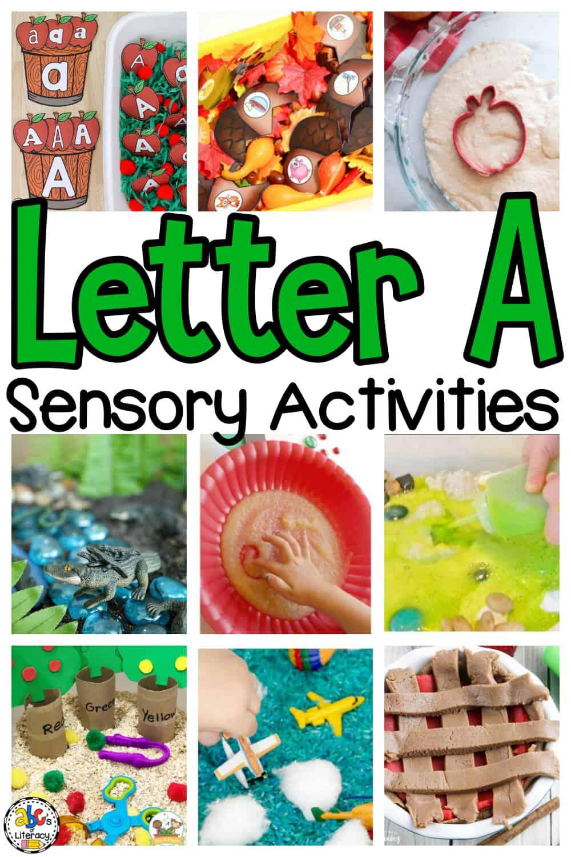Letter A Sensory Activities