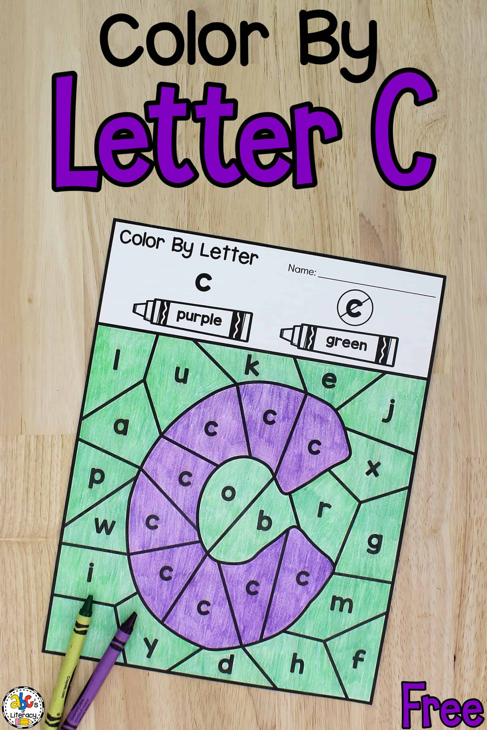 Color By Letter C Worksheets