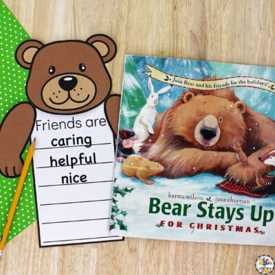 Bear And Friends Writing Activity