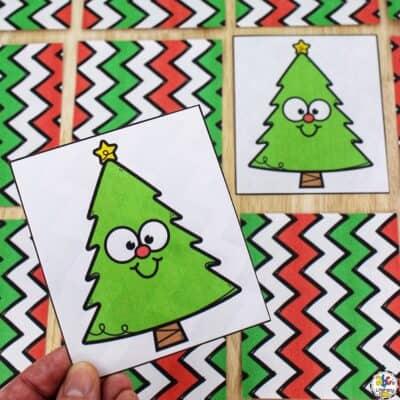 Christmas Tree Matching Game