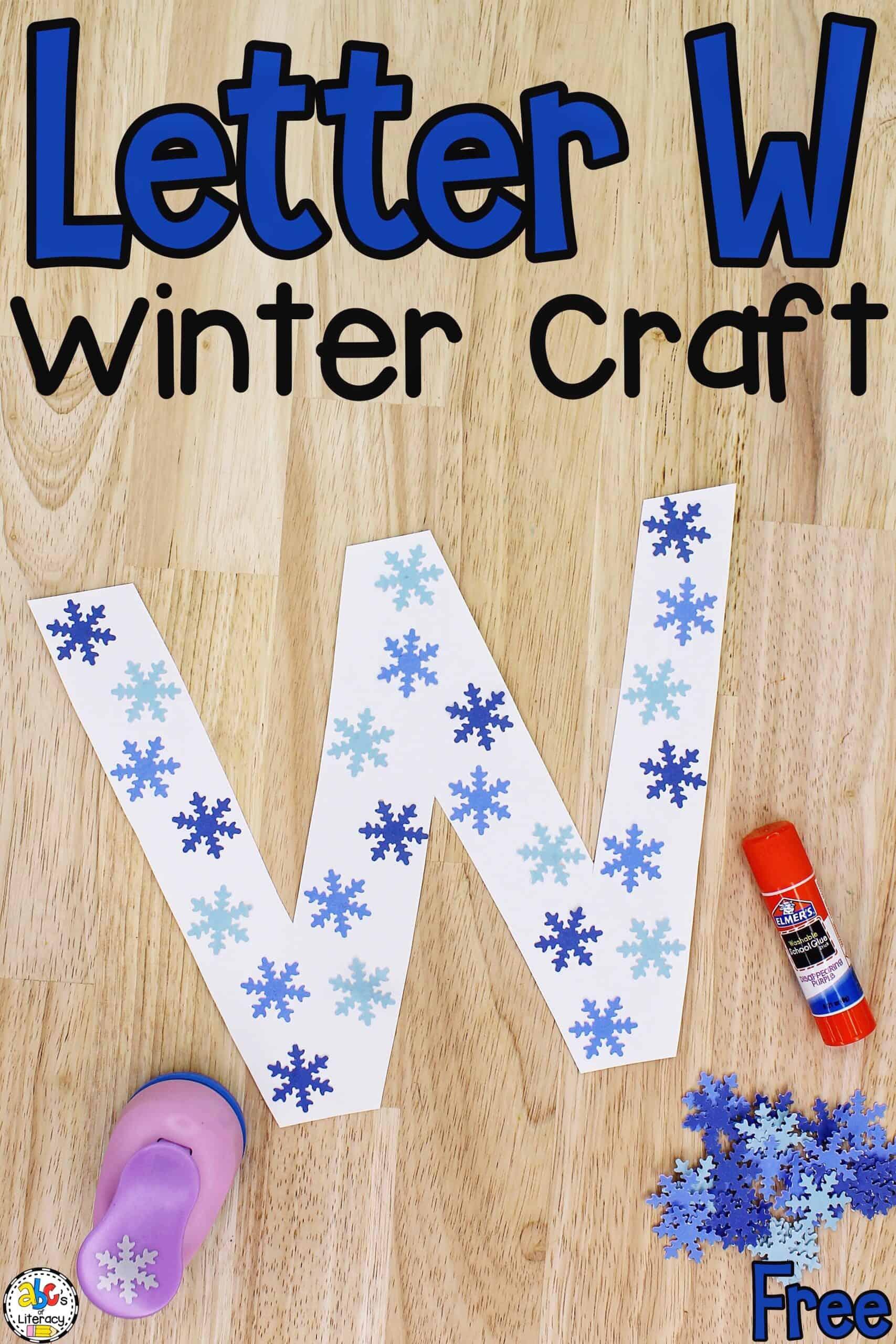 Letter W Winter Craft