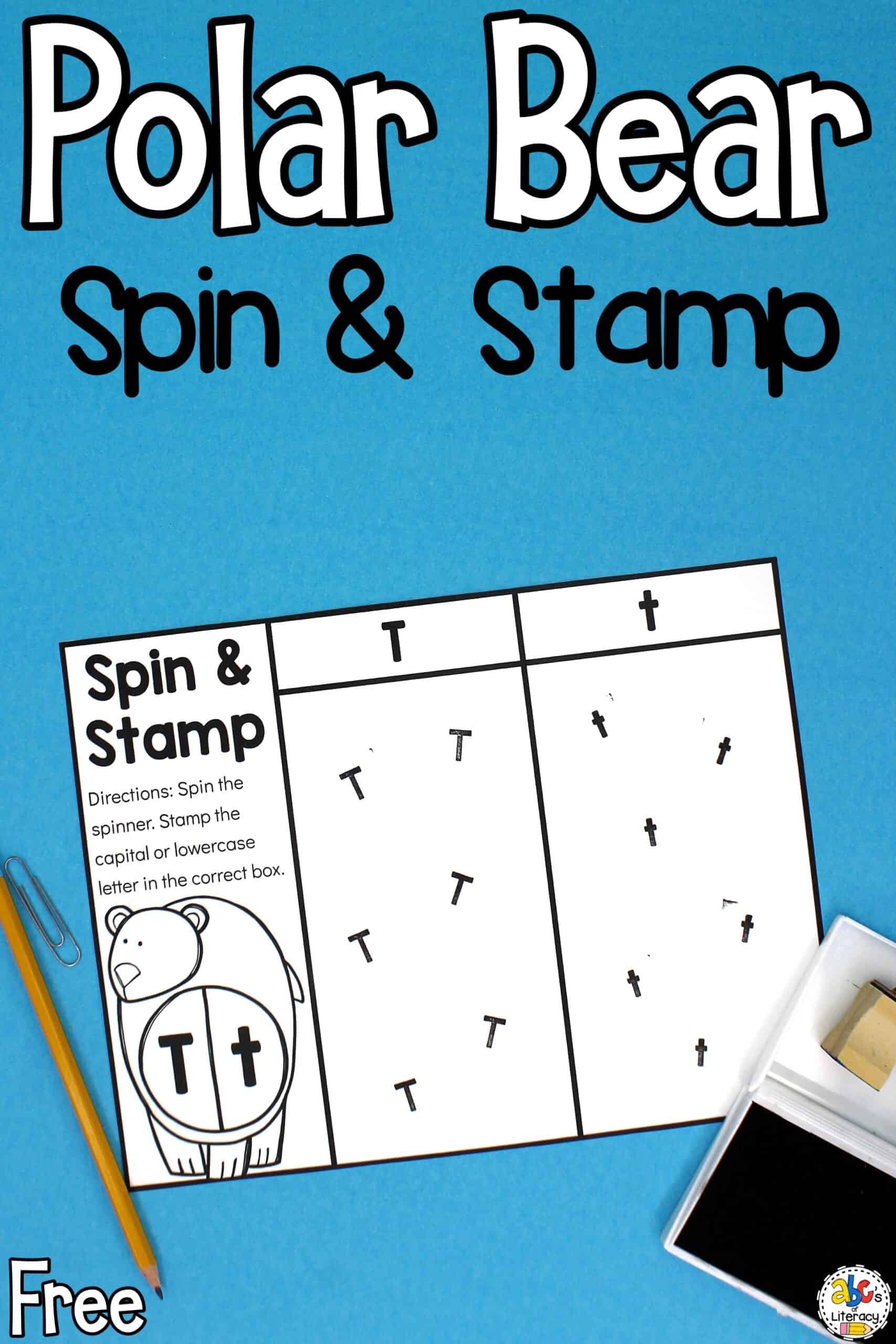 Spin and Stamp Letter Activity