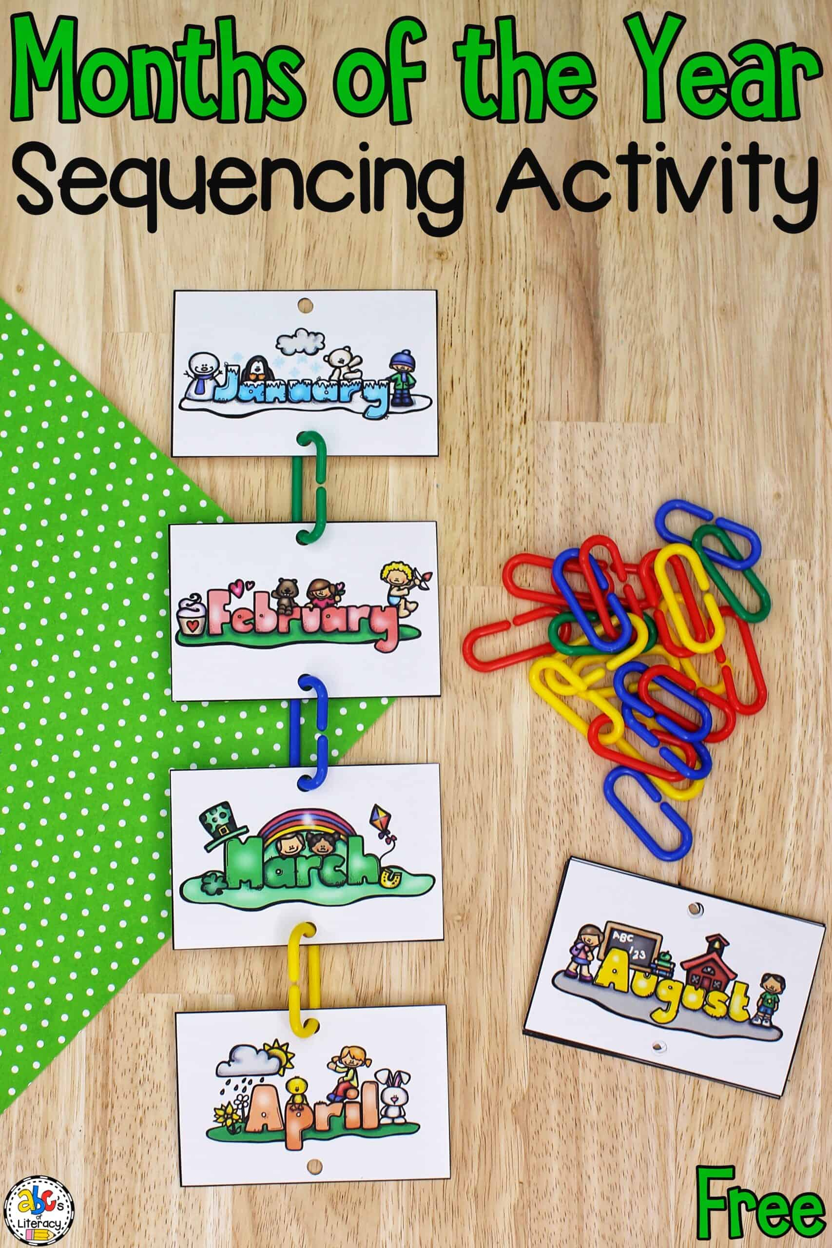 Months Activity for Kids