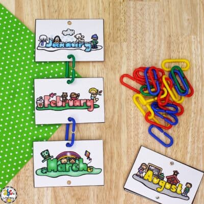 Months of the Year Sequencing Activity