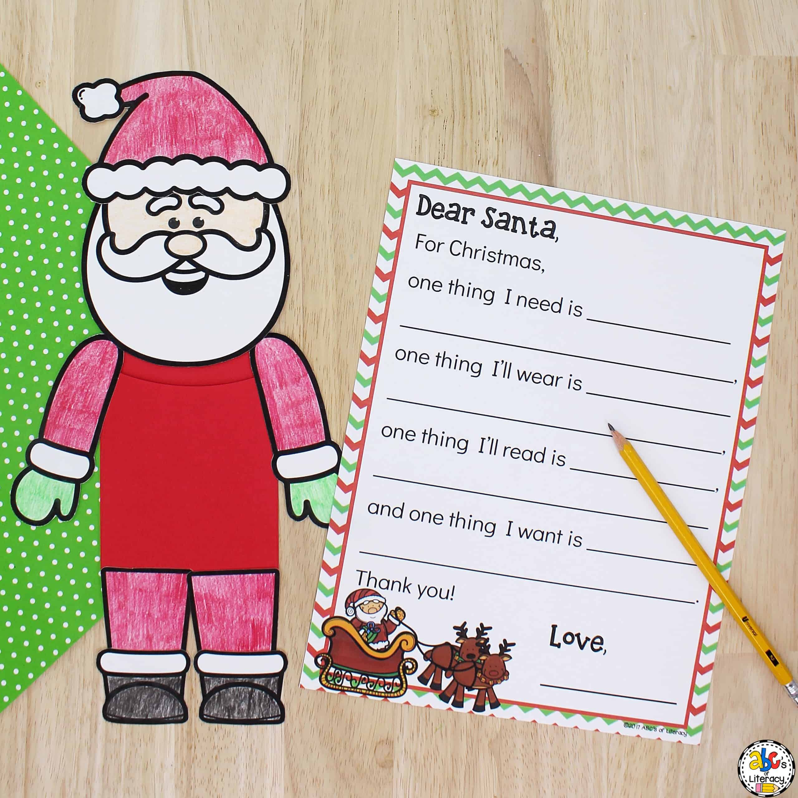 Santa Writing Activity