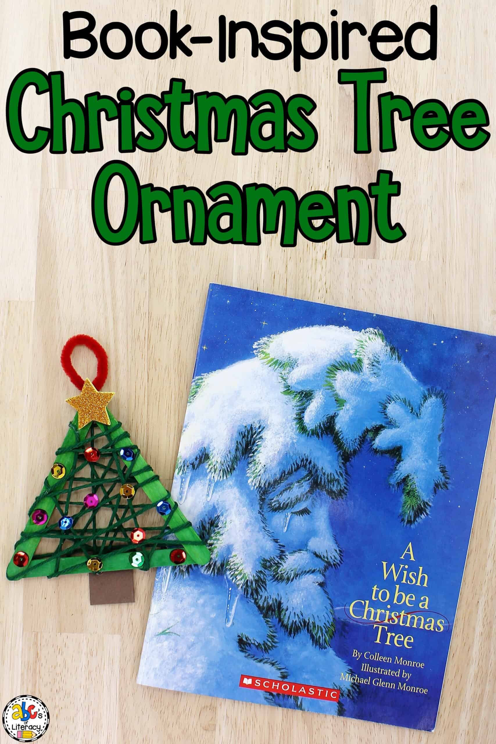 Book-Inspired Christmas Tree Ornament