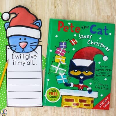 Christmas Cat Growth Mindset Writing Activity