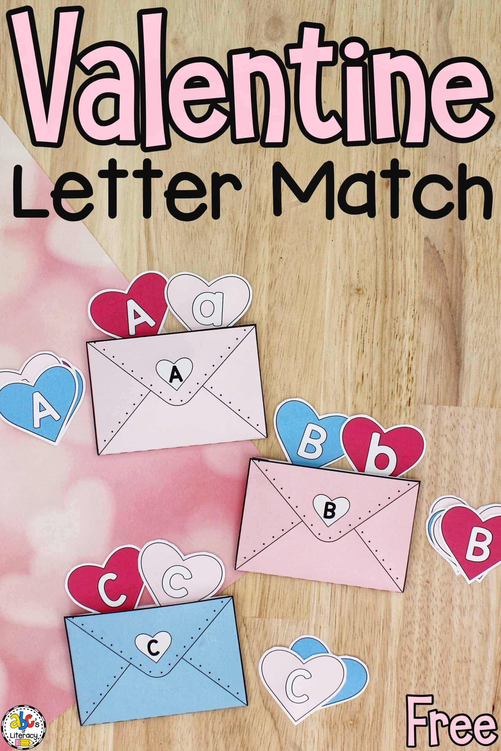 Valentine Letter Match Activity