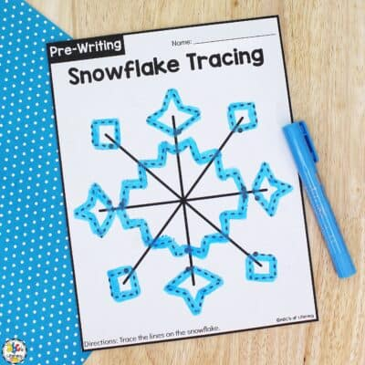 Snowflake Tracing Worksheets