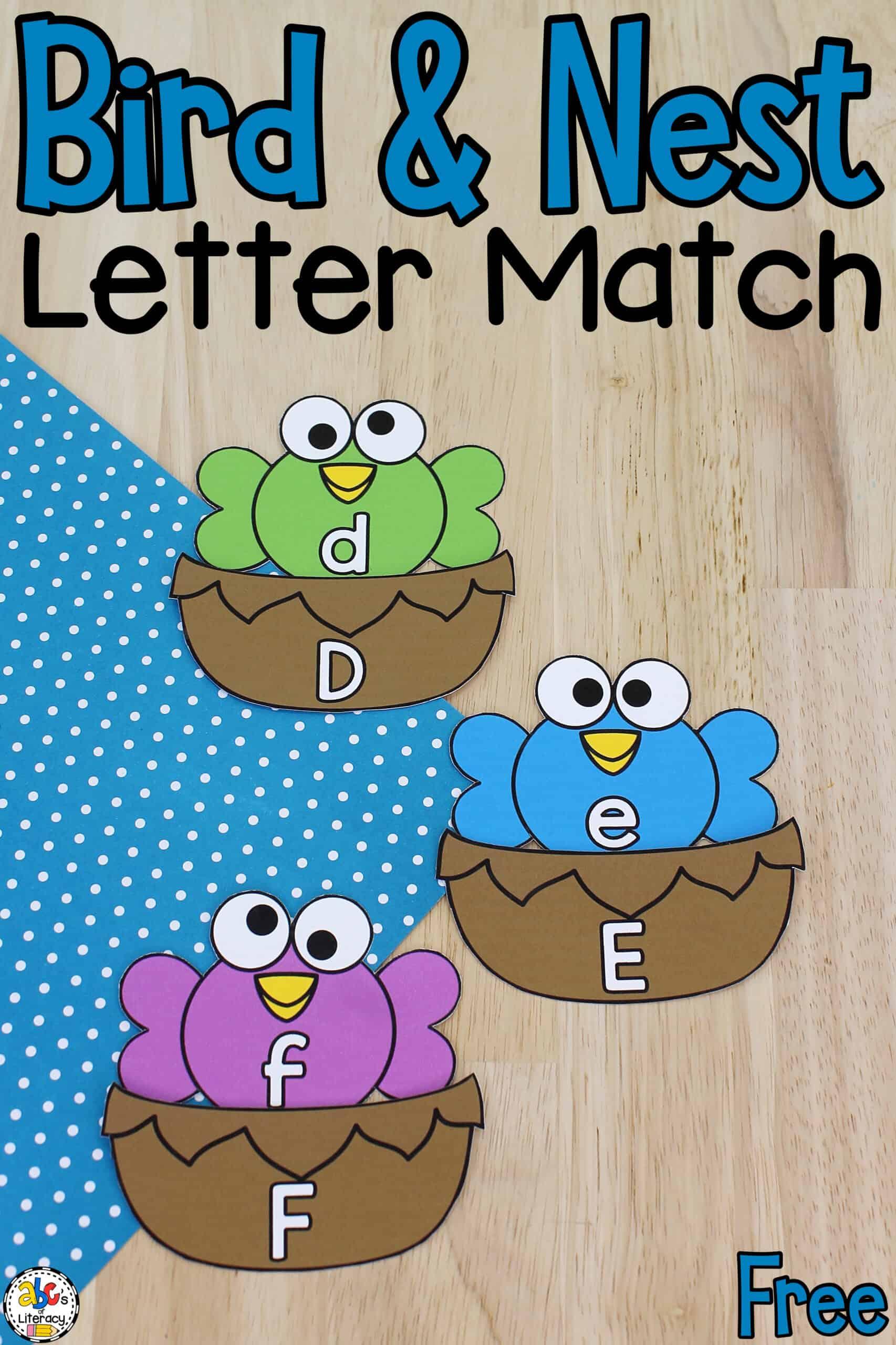 Bird & Nest Letter Match Activity
