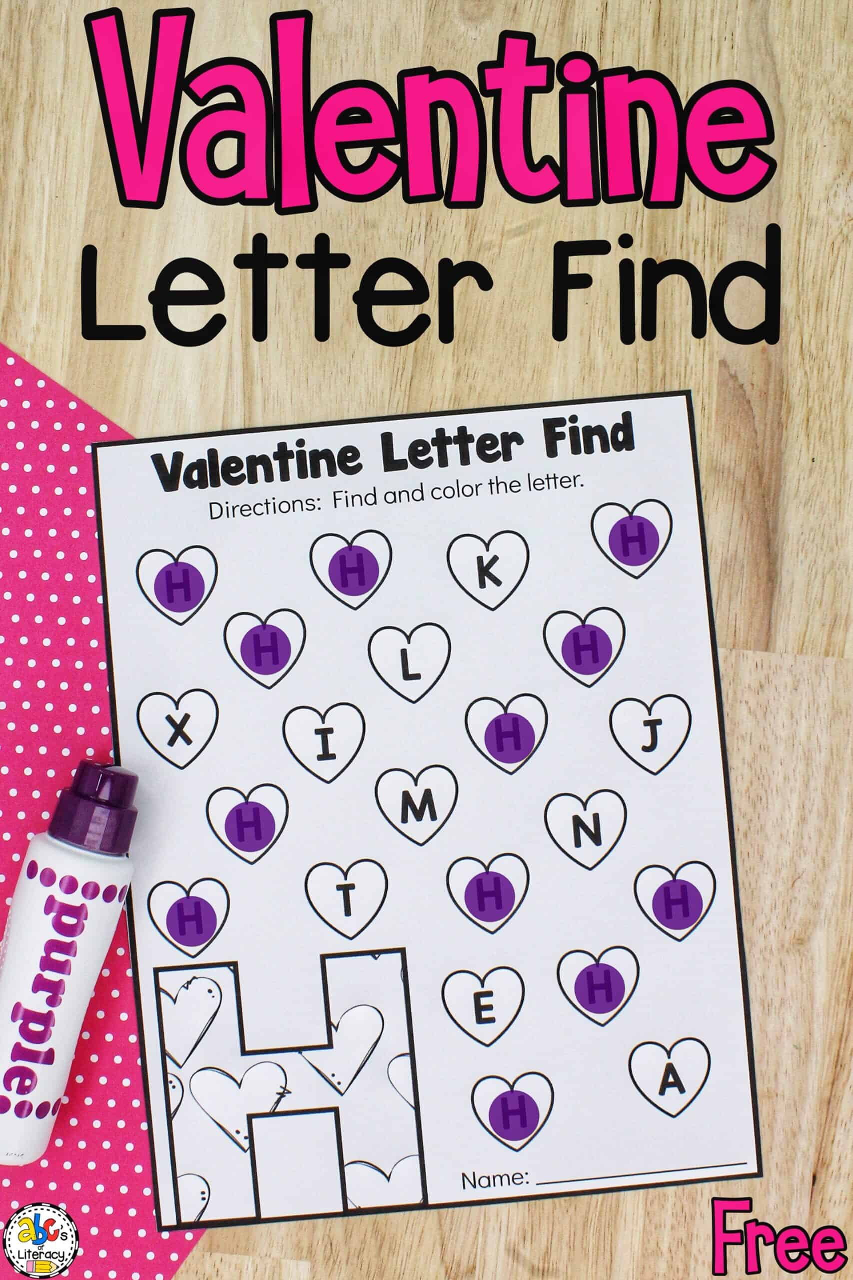 Valentine Literacy Activity
