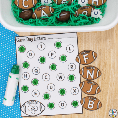 Football Letter Recognition Activity