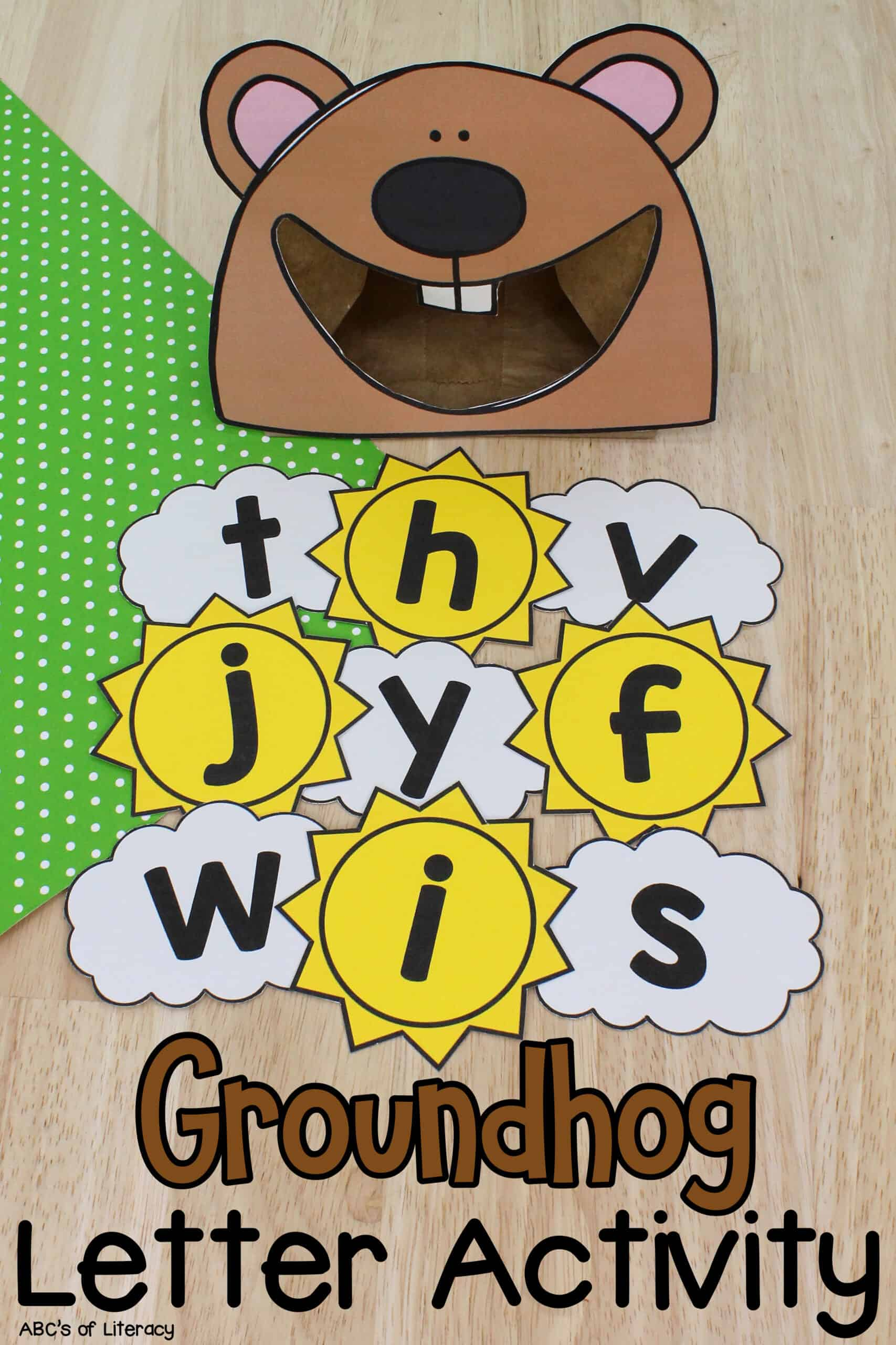 Groundhog Letter Recognition Activity