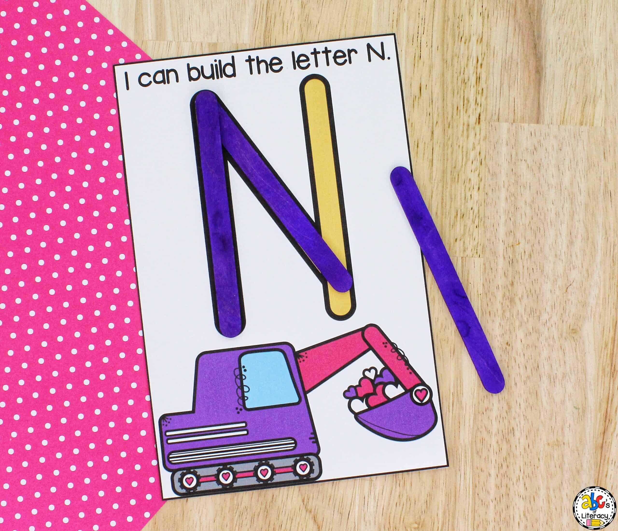 Letter Building Activity