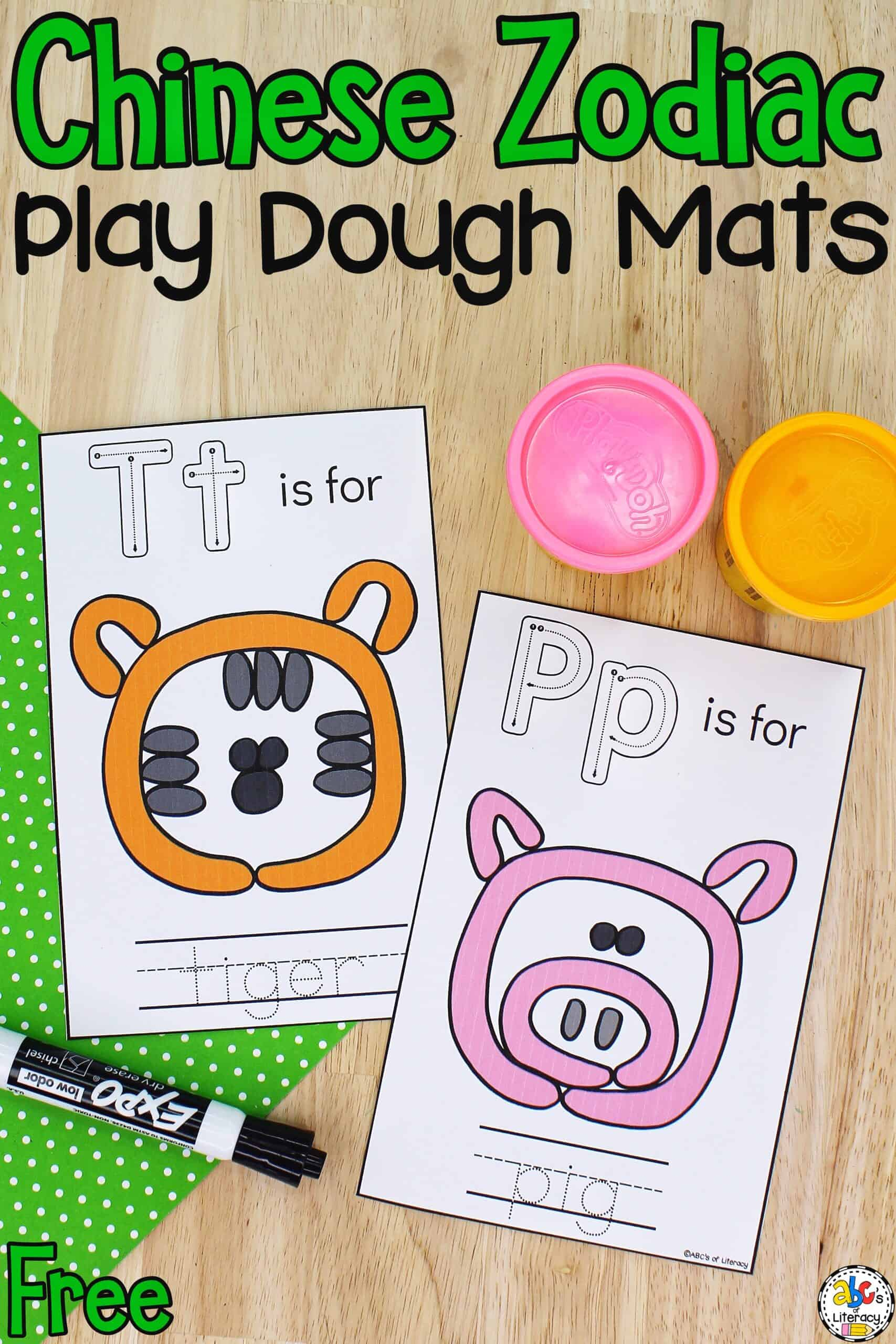 Chinese Zodiac Play Dough Mats