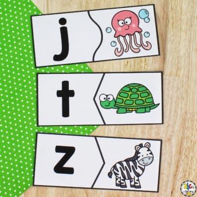 Animal Beginning Sound Puzzles