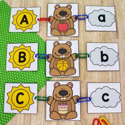 Groundhog Beginning Sounds Activity