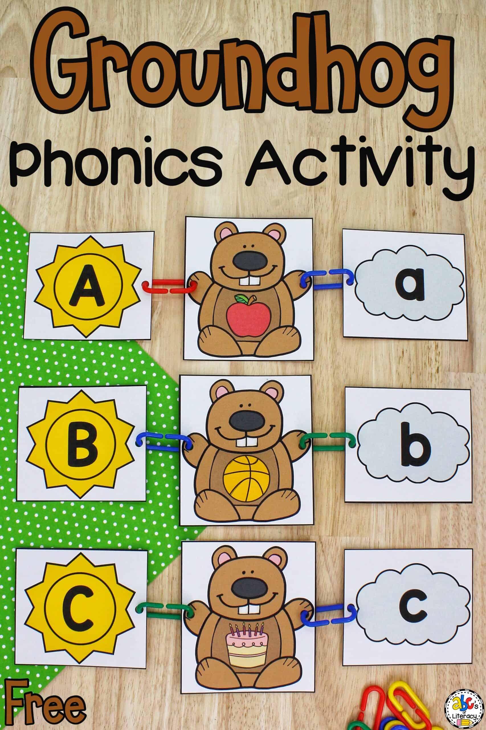 Groundhog Phonics Activity