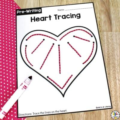Heart Tracing Worksheets