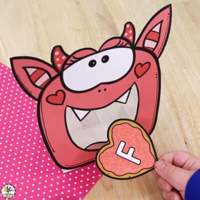 Valentine Monster Letter Recognition Activity